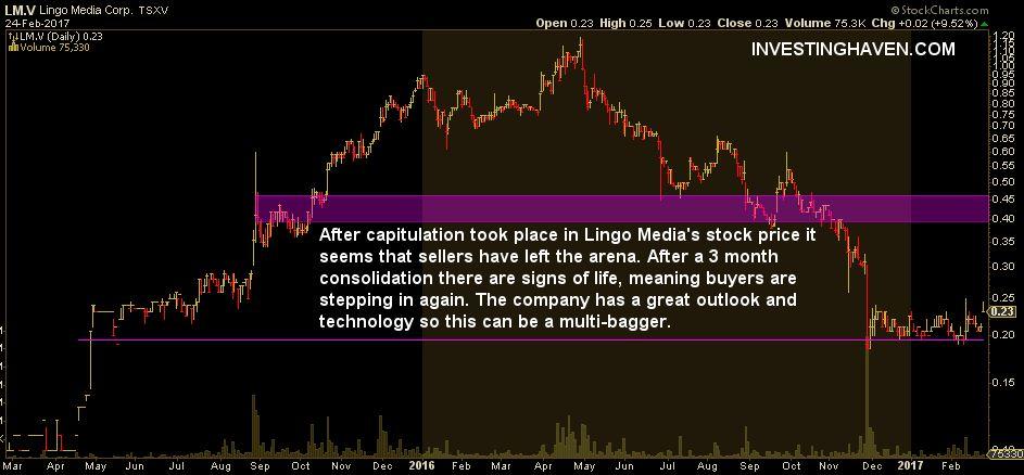 lingo media stock price
