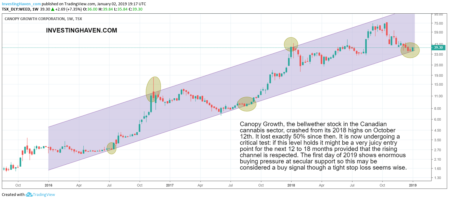 cannabis canada bellwether stock 2019